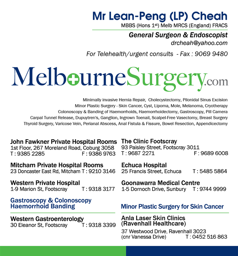 Melbourne Surgery Contact Info